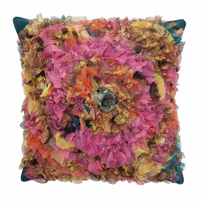 Circular Chiffon Throw Pillow Color: Mink