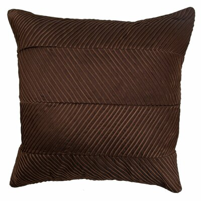 Chevron Cord Pillow in Chocolate Size: Large