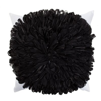 Ribbon Flower Throw Pillow