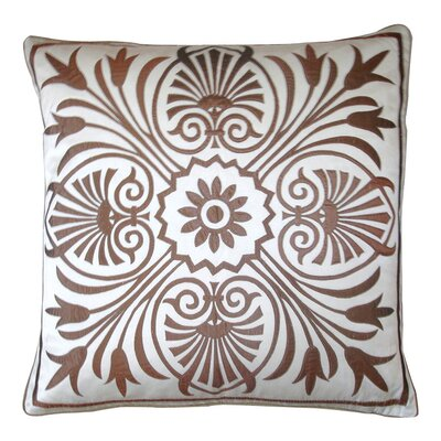 Victoria Throw Pillow Color: White / Penny