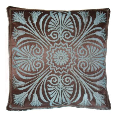 Victoria Throw Pillow Color: Chocolate / Mineral