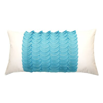 Elisabetta Outdoor Lumbar Pillow Color: Aqua