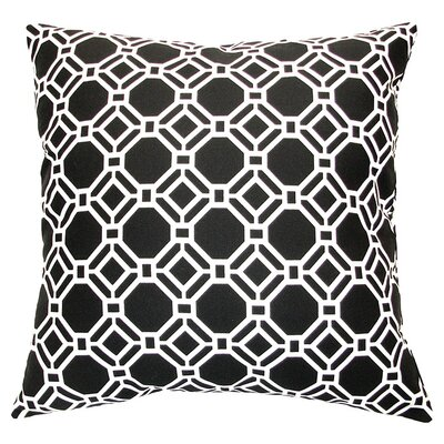 Rossmere Outdoor Pillow in Black Tie Size: 11 x 20