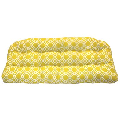 Rossmere Outdoor Bench Cushion Fabric: Sunshine
