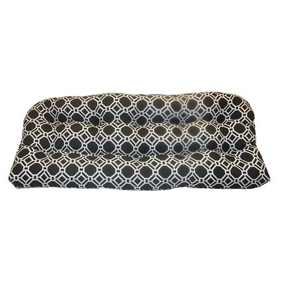 Rossmere Outdoor Bench Cushion Fabric: Black