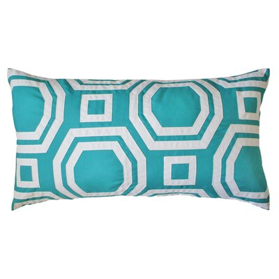 Pop Outdoor Lumbar Pillow Color: Turquoise
