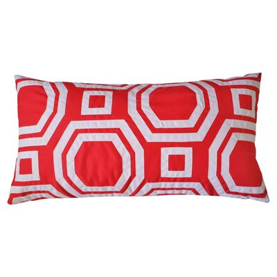 Pop Outdoor Lumbar Pillow Color: Flame