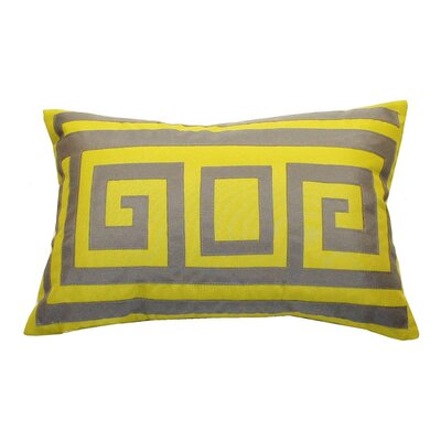 Greek Key Outdoor Lumbar Pillow Color: Citron