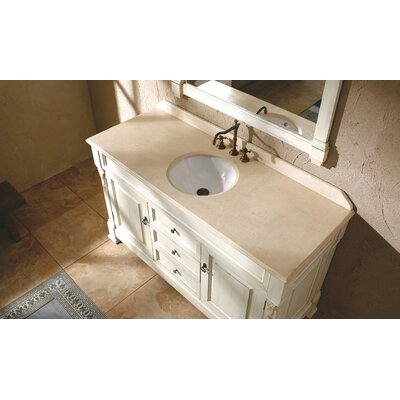 Brookfield 60 Single Stone Vanity Top Top Finish: Galala Beige Marble Top