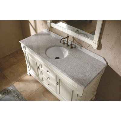 Brookfield 60 Single Stone Vanity Top Top Finish: Carrera White Marble Top