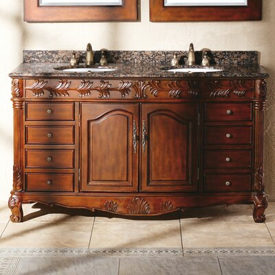 Classico 60 Double Cherry Bathroom Vanity Set