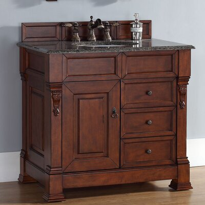 "Brookfield 35"" Single Cabinet Vanity Base Base Finish: Warm Cherry"