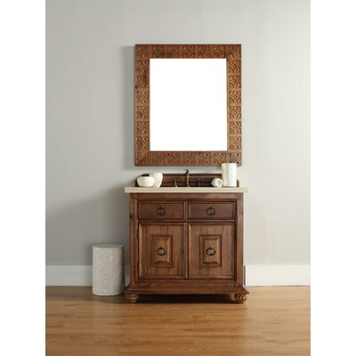 Mykonos 36 Single Cinnamon Single Bathroom Vanity Set Top Finish: Absolute Black Rustic Granite Top