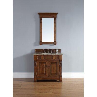 """Brookfield 36"""" Single Country Oak Bathroom Vanity Set 147-114-5571-BLK"""