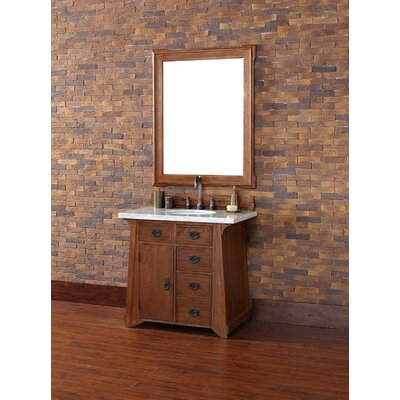 Coraima 36 Single Antique Oak Bathroom Vanity Set