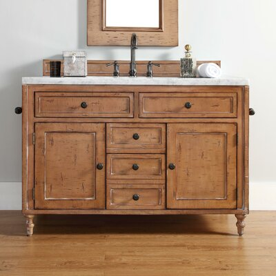 Berlin 48 Single Driftwood Patina Bathroom Vanity Set Top Finish: Tropical Brown Granite Top