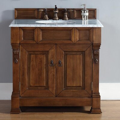 "Brookfield 36"" Single Country Oak Bathroom Vanity Set 147-114-5571-GLB"