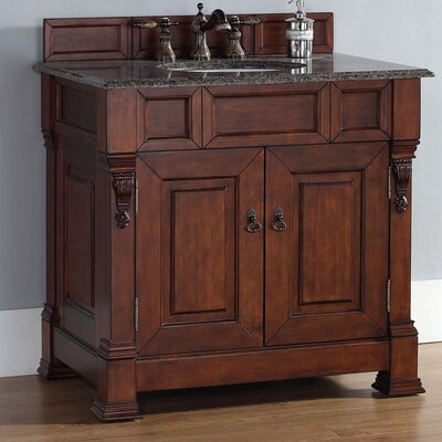 Brookfield 35 Single Cabinet Vanity Base Base Finish: Warm Cherry