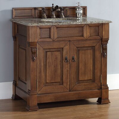 Brookfield 35 Single Cabinet Vanity Base Base Finish: Country Oak