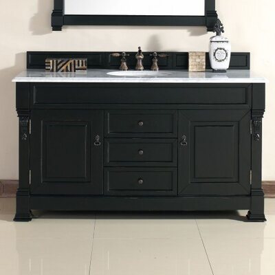 "Brookfield 60"" Single Vanity Base Base Finish: Antique Black"
