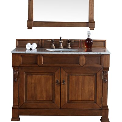 "Brookfield 48"" Single Country Oak Bathroom Vanity Set 147-114-5271-DSC"