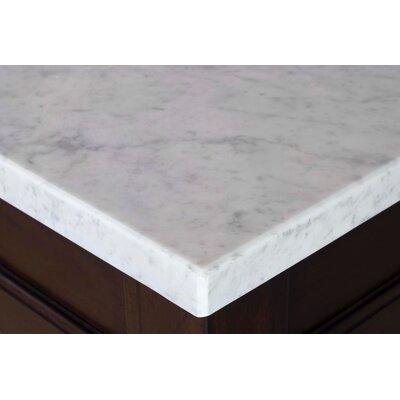 Copper Cove Single Stone 26 Single Bathroom Vanity Top Top Finish: Carrera White