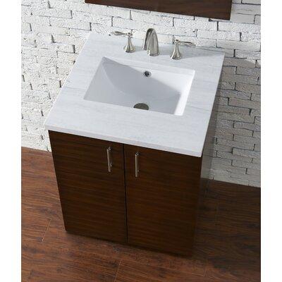 Cordie 24 Single American Walnut Bathroom Vanity Set Base Finish: Silver Oak, Top Finish: Arctic Fall Quartz