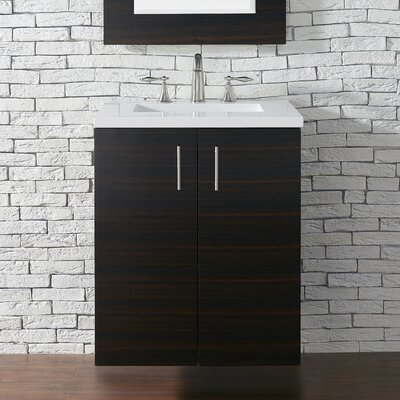 Metropolitan 24 Single Bathroom Vanity Base Base Finish: Macassar Ebony