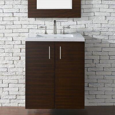 Metropolitan 24 Single Bathroom Vanity Base Base Finish: American Walnut