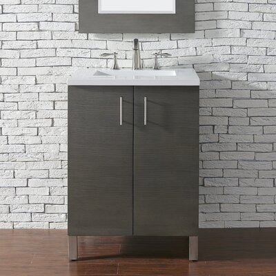 Metropolitan 24 Single Bathroom Vanity Base Base Finish: Silver Oak