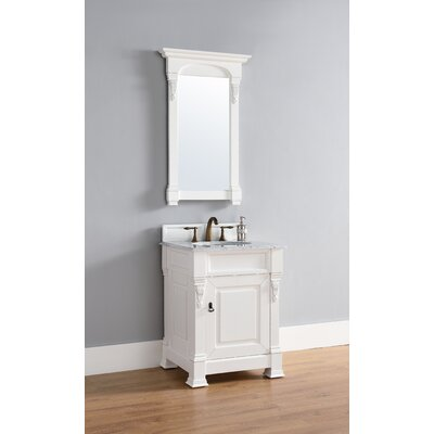 Bedrock 26 Single Antique Black Bathroom Vanity Set Base Finish: Cottage White