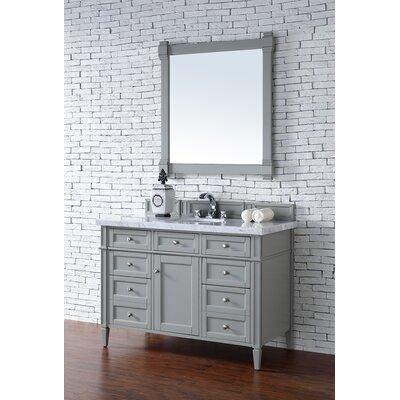 Deleon 48 Single Urban Gray Marble Top Bathroom Vanity Set Top Thickness: 2cm