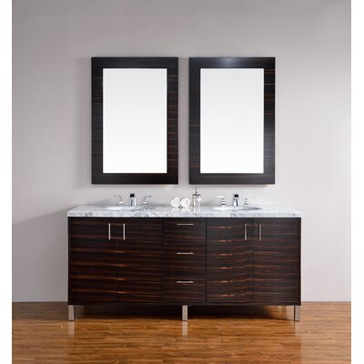 Metropolitan 72 Double Macassar Ebony Bathroom Vanity Set