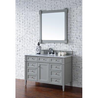 Deleon 48 Single Urban Gray Wood Base Bathroom Vanity Set Top Thickness: 2cm