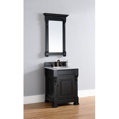 Brookfield 26 Single Antique Black Bathroom Vanity Set Top Thickness: 2cm