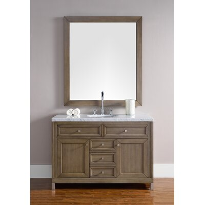 Valladares 48 Single White Washed Walnut Bathroom Vanity Set