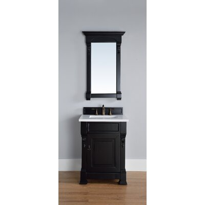 Brookfield 26 Single Antique Black Bathroom Vanity Set Top Thickness: 4cm
