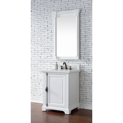 Belhaven Traditional 26 Single Cottage White Bathroom Vanity Set Top Thickness: 2cm