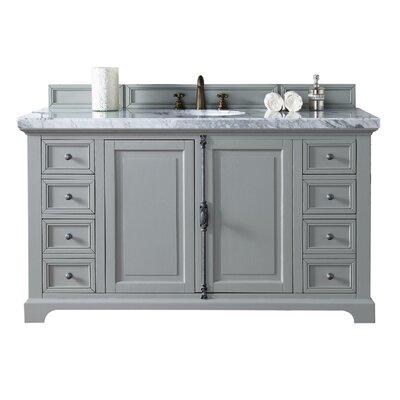 Providence 60 Single Urban Gray Bathroom Vanity Set Top Thickness: 2cm