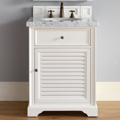 Belfield 26 Single Undermount Sink Cottage White Bathroom Vanity Set