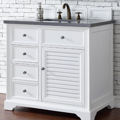Savannah 36 Single Cottage White Bathroom Vanity Set