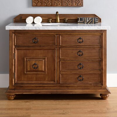 Frye 48 Single Cinnamon Stone Top Bathroom Vanity Set