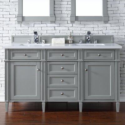 Brittany 60 Double Urban Gray Bathroom Vanity Set