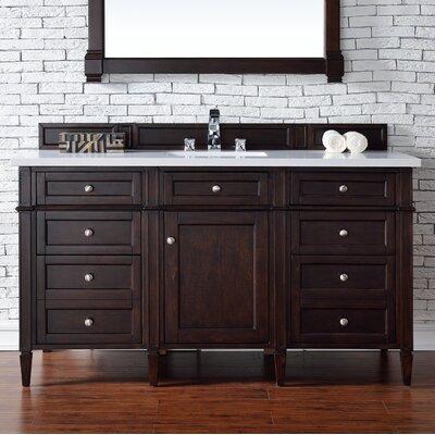 Cordie Modern 60 Single Macassar Ebony Bathroom Vanity Set
