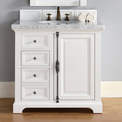 Providence 36 Single Bathroom Vanity Base Base Finish: Cottage White