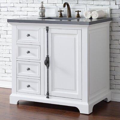 Belhaven Traditional 36 Single Cottage White Bathroom Vanity Set