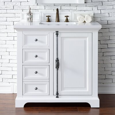 Belhaven 36 Single Cottage White Wood Base Bathroom Vanity Set
