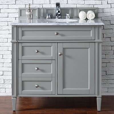Brittany 36 Single Urban Gray Bathroom Vanity Set Top Thickness: 2cm