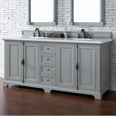 Providence 72 Double Urban Gray Bathroom Vanity Set