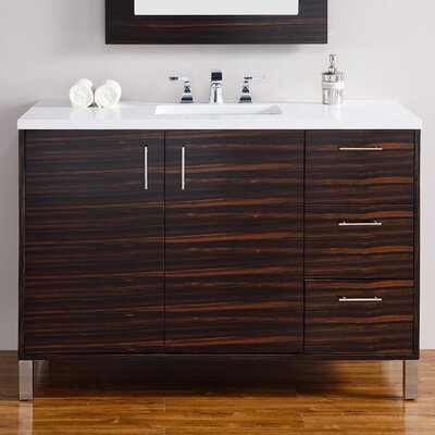 Metropolitan 48 Single Macassar Ebony Bathroom Vanity Set